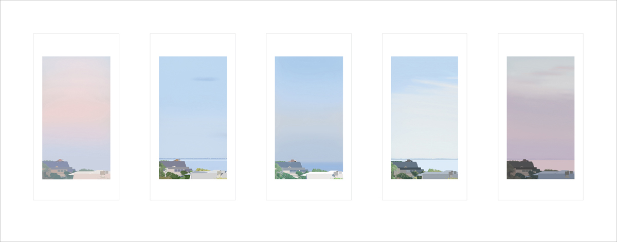 1 x 5, 2019, pigment print, 37.8 x 140 cm