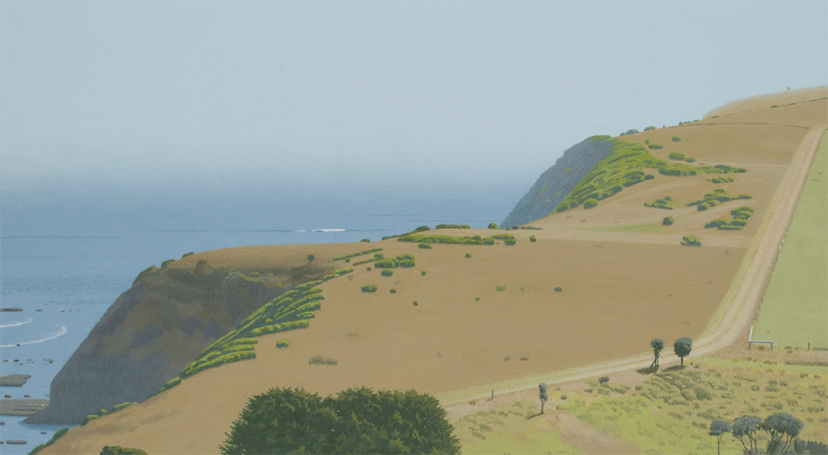 The Road to the Sea 1, 2009, oil on canvas,  38 x 58 cm