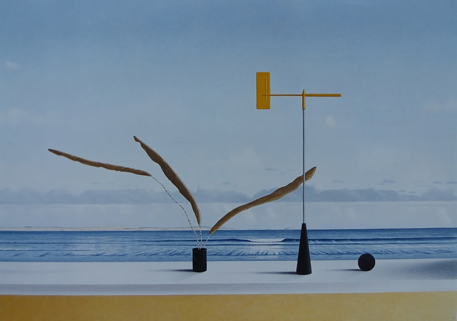 Coastal Navigation, 1994, acrylic on panel, 70 x 97 cm