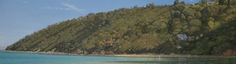 Headland, 2008, oil on canvas, 25 x 91 cm