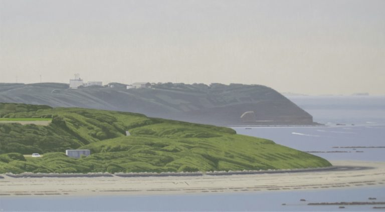 Headlands 2017, acrylic on canvas, 51 x 91 cm