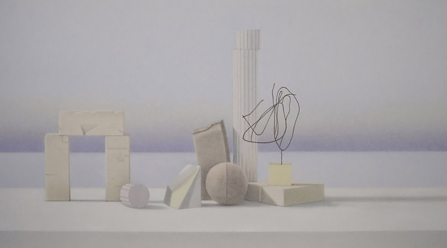 In the light of history, 2012, coloured pencils on paper, 40 x 70 cm