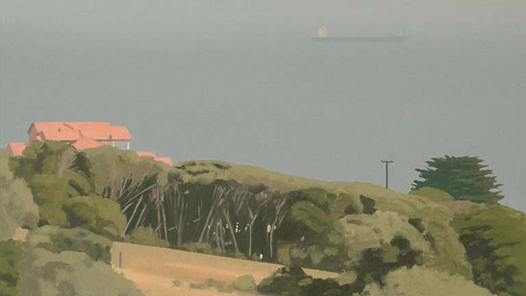 Landscape 11, 2005, oil on paper, 13  x 24 cm