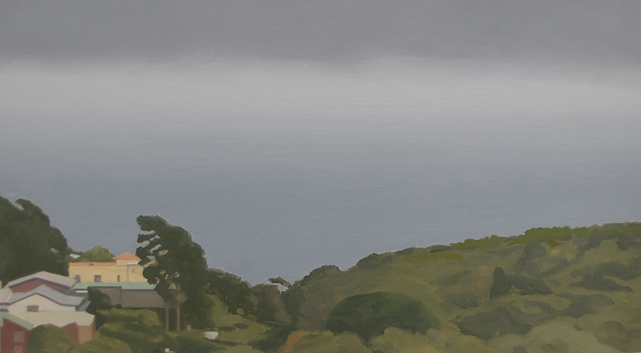 Landscape 7, 2005, oil on paper, 13 x 24 cm