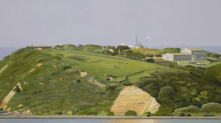 Landscape 9, 2005, oil on paper, 13 x 24 cm