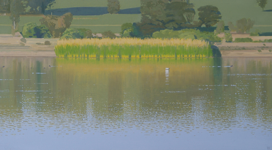Mornington Peninsula Landscape (Devilbend 3), 2009, oil on panel, 19 x 34 cm