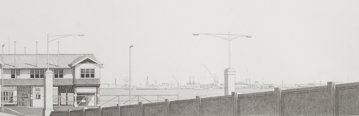 Port Melbourne 1, 1983, graphite on paper, 25 x 60 cm