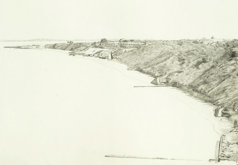 Sandringham, 1990, graphite on paper, 41 x 56 cm