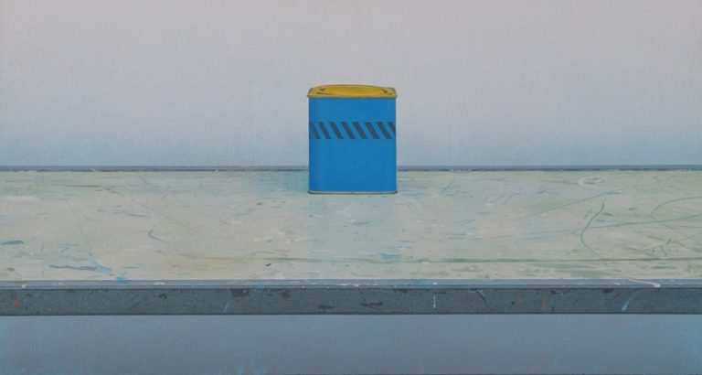 Still Life, 1981, acrylic on panel, 28 x 52 cm