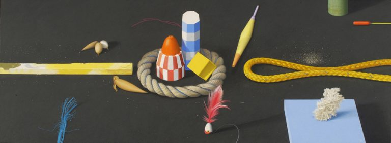 Still Life 2, 2003, acrylic on panel, 35 x 95 cm
