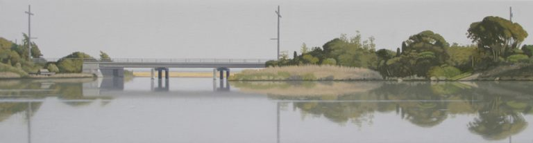 The Road to the Sea 7, 2008, oil on canvas, 25 x 91 cm
