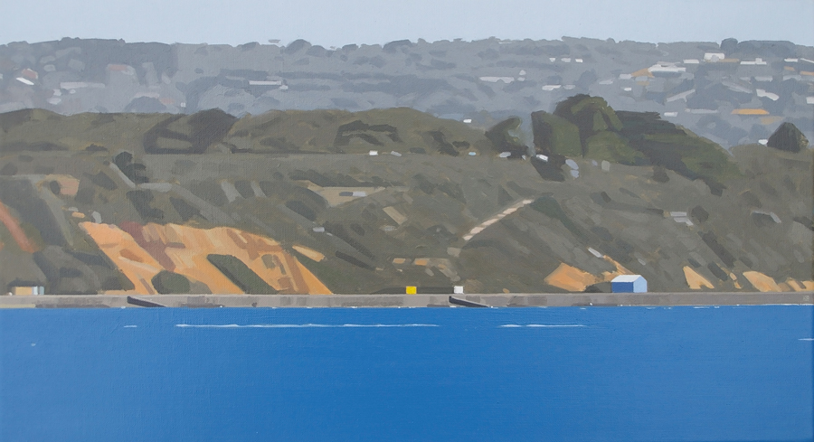 The Road to the Sea 9, 2008, oil on canvas, 25 x 45 cm