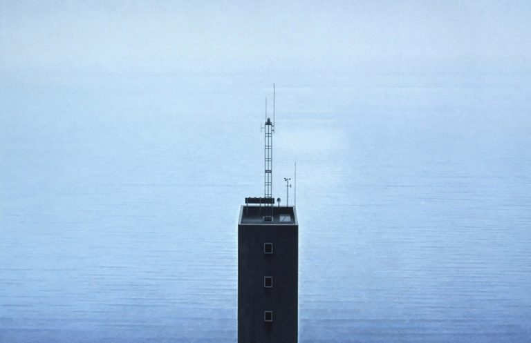 Tower and Ocean, 1997, graphite and coloured pencils on paper, 55 x 70